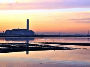 藤前干潟の夕日