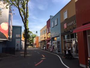 アップタウンは、色とりどりの建物が印象的です!